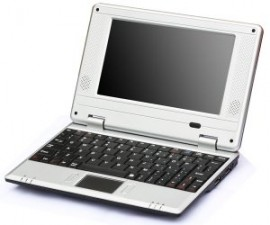 "7"" Mini Netbook for kids EasyPC 2GB HDD 128mb ram, perfect gift"